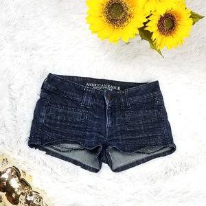 American eagle hot jeans short sz 2